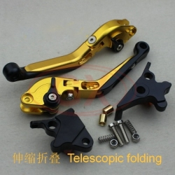 Motorcycle folding lever golden