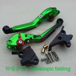 Motorcycle folding lever green