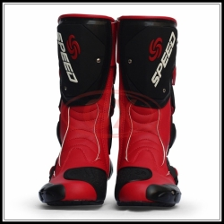 Red probiker boots