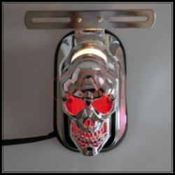 Silver Skull Tail Light